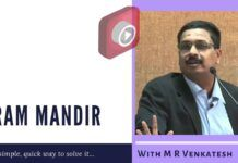 In conversation with M R Venkatesh on a quick way to build Ram Mandir