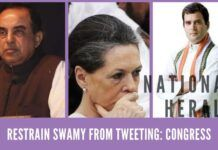 "Congress leaders demand that Court prevent Swamy from making ""derogatory tweets"" about the National Herald case"