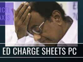 The Enforcement Directorate has charge sheeted P Chidambaram and eight others in bribes in connectiion with Aircel-Maxis scam