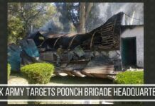 Pak army targets Poonch brigade headquarters