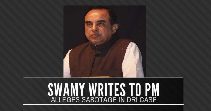 Swamy writes to the PM, alleges that Adhia sabotaged the DRI case in Mumbai High Court