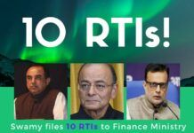 Citing several instances of commission and omission by the Finance Secretary Adhia, Swamy has sent 10 Request To Information letters