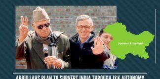 Abdullahs plan to subvert India through J&K autonomy