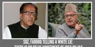 Soz, Farooq telling a white lie: There is no Delhi Agreement of 1952 on J&K