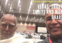 With Padma Bhushan Dr. Nagaswamy on Manu Dharma, Bharat's constitution for thousands of years