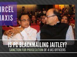 Is Chidambaram blackmailing Jaitley by threatening to expose the activity of his children?