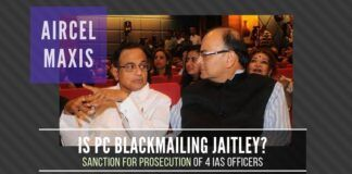 Is Chidambaram blackmailing Jaitley by threatening to expose the activity of his children?