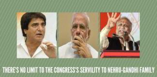 There's no limit to the Congress's servility to Nehru-Gandhi family`