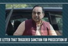 The Swamy Letter that triggered Sanction for Prosecution of PC