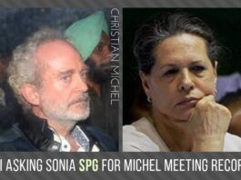 What was the reason for Michel to meet Sonia Gandhi so many times over a 15-year period?