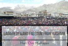 Ladakhi Buddhist demand freedom from Kashmir