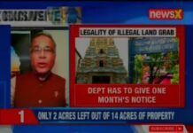 As more details emerge, the land grab and illegalities with Temple lands and properties is stunning. This is just the beginning as more and more temples are being showcased