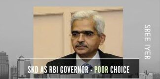Choice of a History Post-Grad with a questionable track record as the RBI Governor is an extremely poor choice