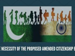 The necessity of the proposed amended Citizenship Bill