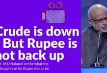 Are vested interested wanting to keep the rupee down? If yes, why?
