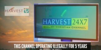 A Christian Missionary Channel Harvest TV has been broadcasting illegally in India without a license for the past 5 years