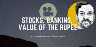 R Balakrishnan dwells on a wide range of topics from the best place to buy Real Estate, the value of the Rupee and India's Stock Markets. A must see!