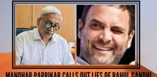 Manohar Parrikar calls out lies of Rahul Gandhi