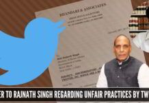 Ishkaran Bhandari raises complaint with Home Minister regarding twitter bias and targeting of several individuals of a certain ideology