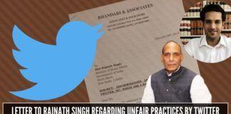 Ishkaran Bhandari raises complaint with Home Minister regarding twitter bias and targeting of several individuals of a certain ideology