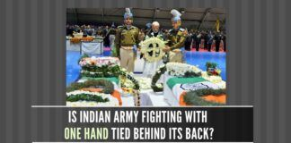 Are the soldiers of the Indian Armed Forces fighting with one hand tied behind their back?