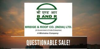 Is there a plot by vested interests to sell a profitable PSU firm Bridge & Roof when it can be listed on the Stock Exchange?