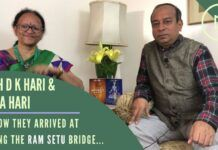 By two independent scientific means, Hema and DK Hari arrived at the date when the Ram Setu was built. A wide-ranging discussion with them on Yuga, Ram Setu and how the dates were calculated