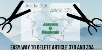 Easy way to delete Article 370 and 35A