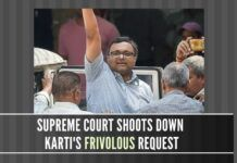 Karti Chidambaram tests the patience of the Supreme Court, asking for interest on the Rs.10 crores deposit he placed at the SC for travel abroad