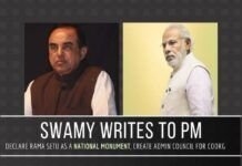 Swamy writes to the PM, urges him to declare Rama Setu a National Monument