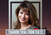 Tharoor will need to appear in the Sessions Court on Feb 21 in connection with the mysterious death of his wife