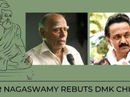 Stalin accused Dr Nagaswamy of being anti-Tamil and demanded his removal from the committee.