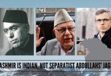Kashmir is Indian, not separatist Abdullahs' Jagir