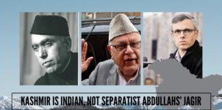 Kashmir is Indian, not separatist Abdullahs' Jagir