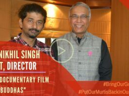 A stunning documentary that documents how India's cherished treasures such as murtis are being smuggled out and the work being done to bring our gods home. Director Nikhil Singh Rajput discusses how he stumbled on to this subject.