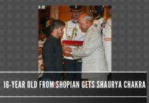 NATION AWARDS SHAURYA CHAKRA TO 16-YEAR-OLD BRAVE BOY IRFAN RAMZAN SHEIKH