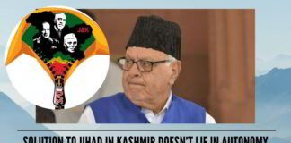 Mr Farooq Abdullah, Solution To Jihad In Kashmir Doesn't Lie In Autonomy