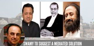 Swamy to suggest a Mediated Solution