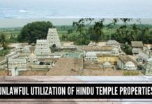 Unlawful utilization of Hindu temple properties