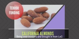 One of the reasons for stopping LoC trade - over-invoicing of California Almonds being brought into India