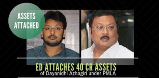 More trouble for DMK - now a member of the Alagiri branch of the DMK family has his properties attached by the ED