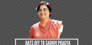 Hats off to Sadhvi Pragya