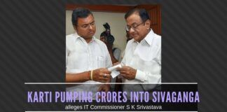 Karti is stacking huge piles of cash in provision stores for distribution to the electorate in Sivaganga before the election, alleges IT Commissioner S K Srivastava