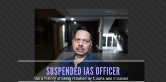 Suspended IAS Officer Mohammed Mohsin has a history of Modi-bashing and has been slammed by courts and tribunals in the past