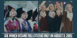 Jammu and Kashmir women became full citizens only on August 8, 2005