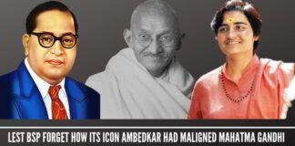 Lest BSP forget how its icon Ambedkar had maligned Mahatma Gandhi