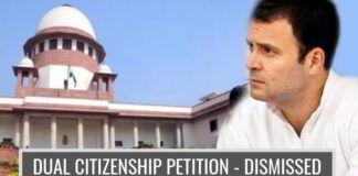 Petition dismissed questioning Congress Scion's Dual Citizenship