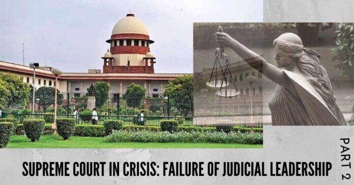 The present challenges of Supreme Court crisis are an opportunity to restructure the judicial system by being realistic, rational and open for making the rule of law meaningful.