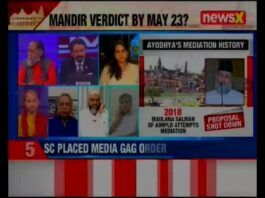 Sree Iyer on NewsX on Ayodhya Case hearing on Friday & Why Loot in Temples is not a Poll issue
