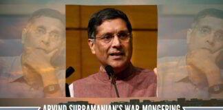 Arvind Subramanian's WAR-mongering